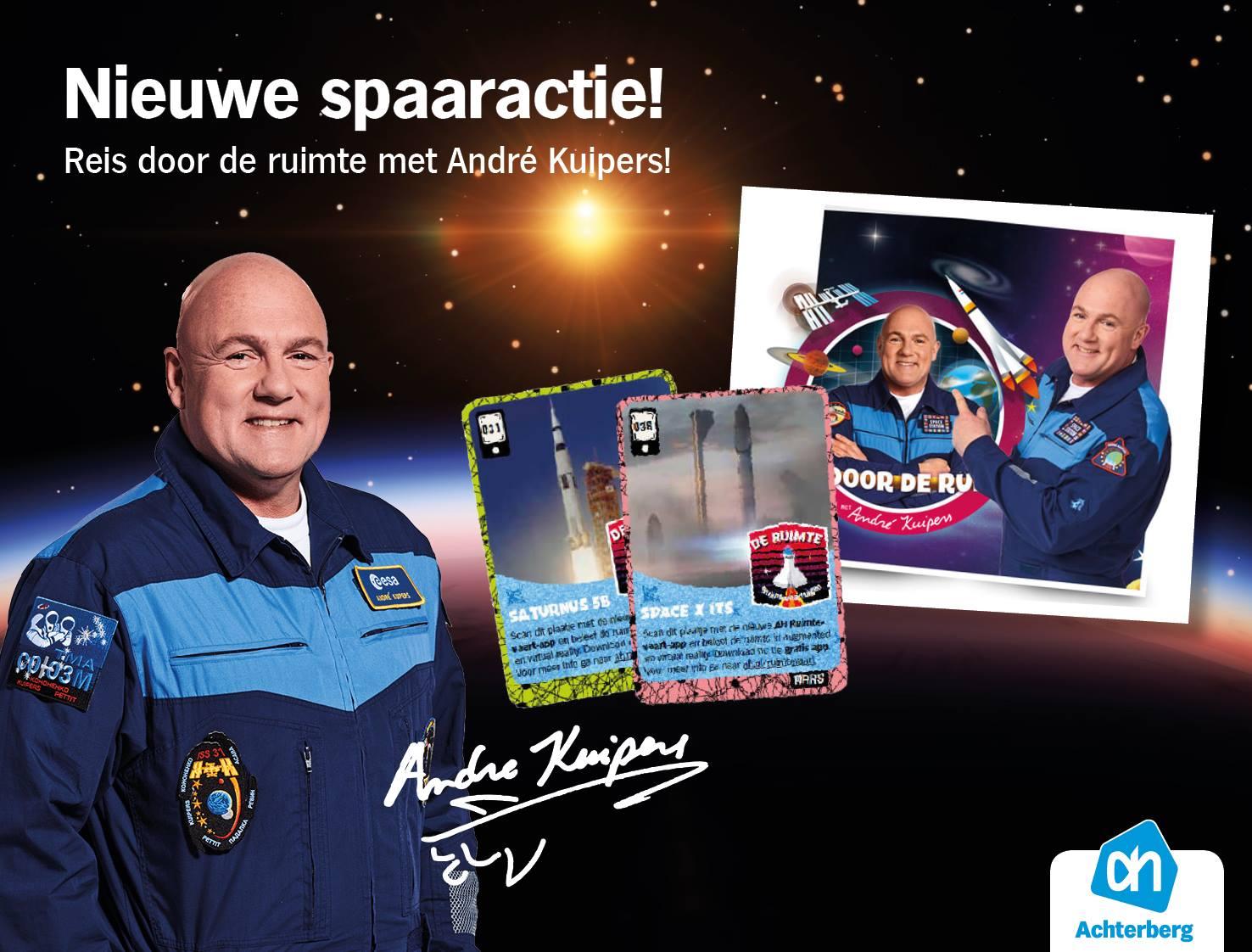 Nieuwe spaaractie: Reis door de ruimte met André Kuipers!