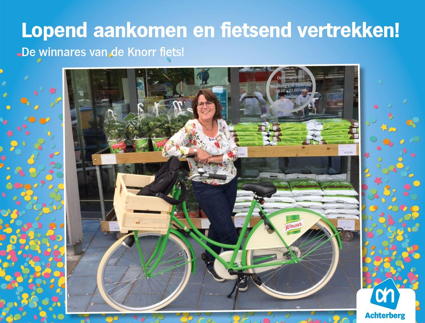 De winnares heeft haar fiets opgehaald!