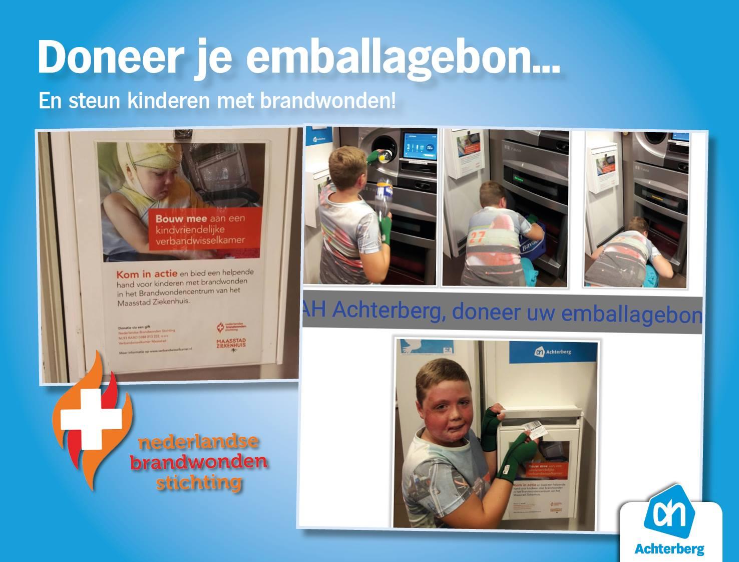 Doneer je emballagebon en steun kinderen met brandwonden!