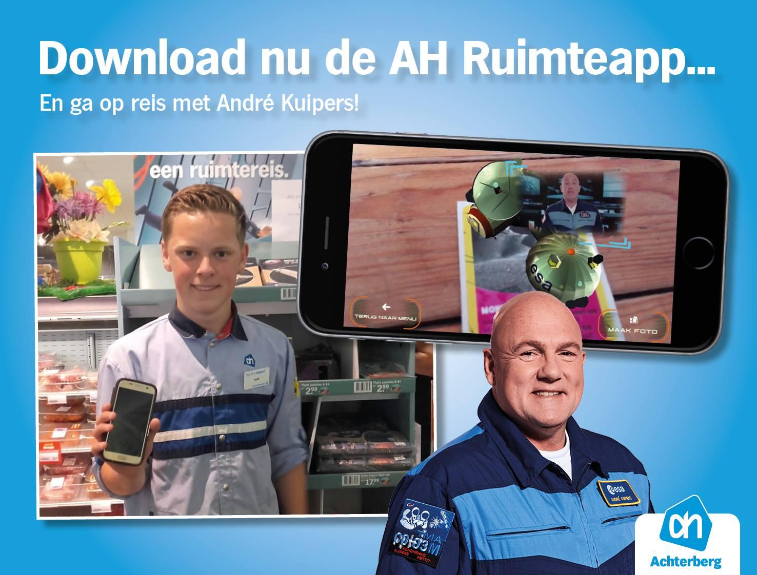 Download nu de AH Ruimteapp… En ga op reis met André Kuipers!