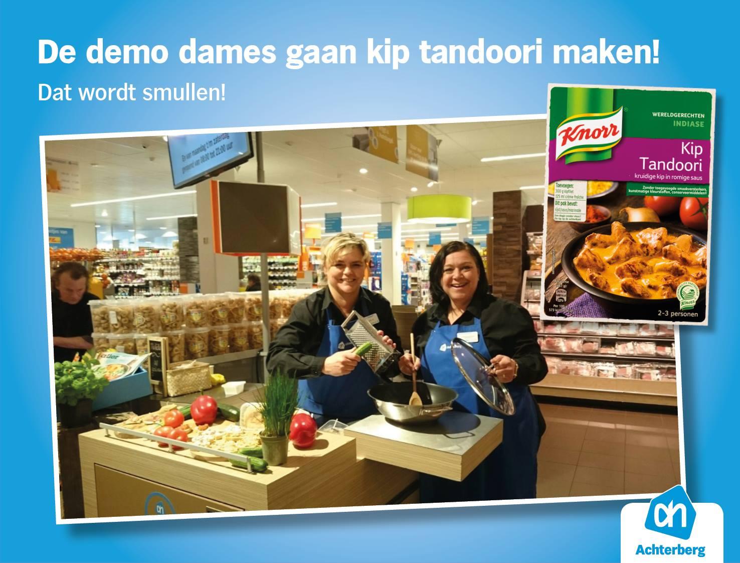 Dit weekend maken onze demo dames een heerlijke Kip Tandoori