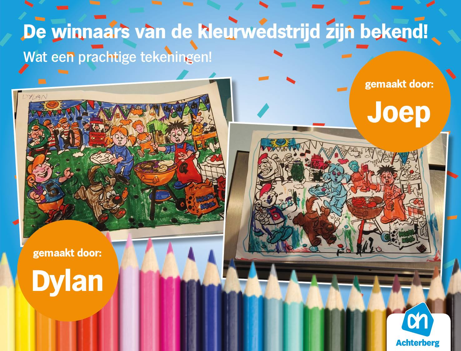 De winnaars van de kleurwedstrijd zijn bekend! Wat een prachtige tekeningen!