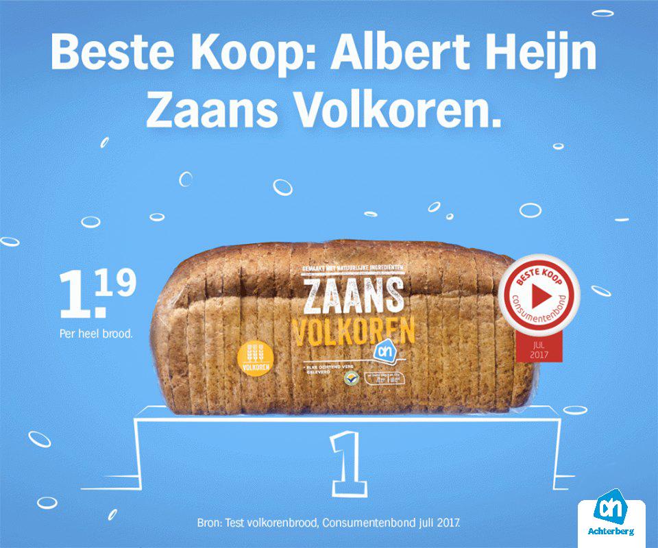 Beste koop: Albert Heijn Zaans Volkoren