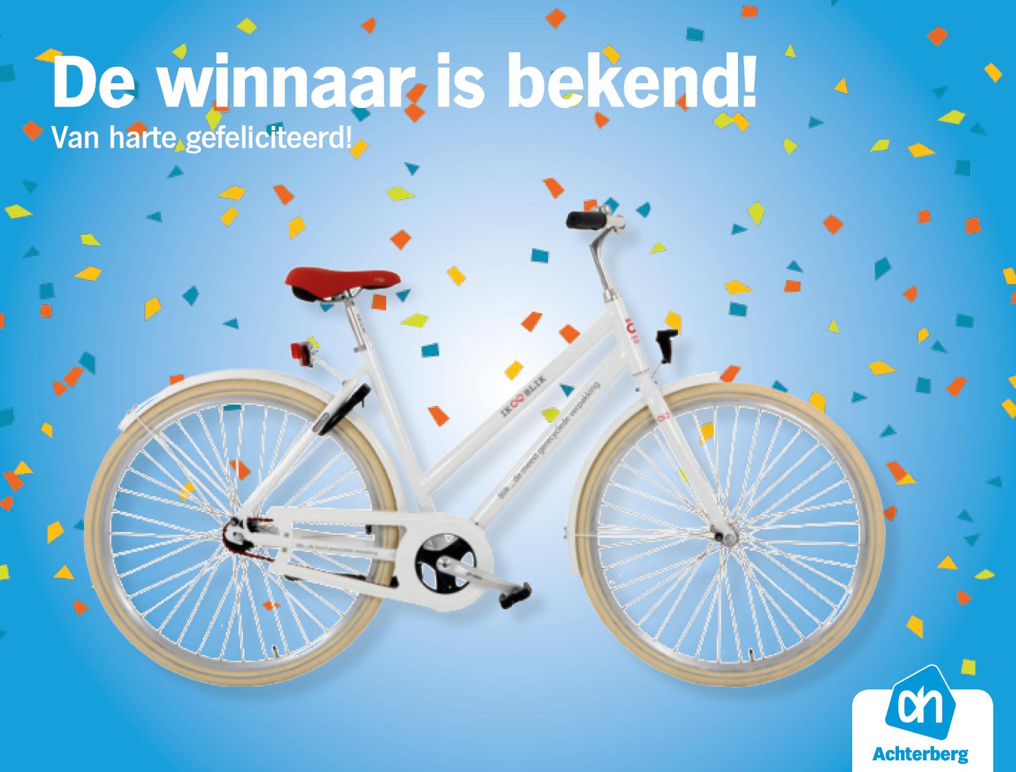 Winnaar fiets is bekend!