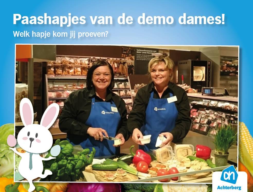 Heerlijke paashapjes van de demo dames!