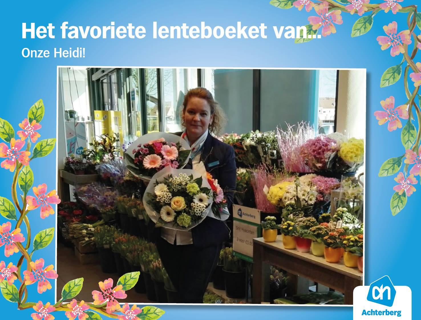 Het favoriete lenteboeket van Heidi!