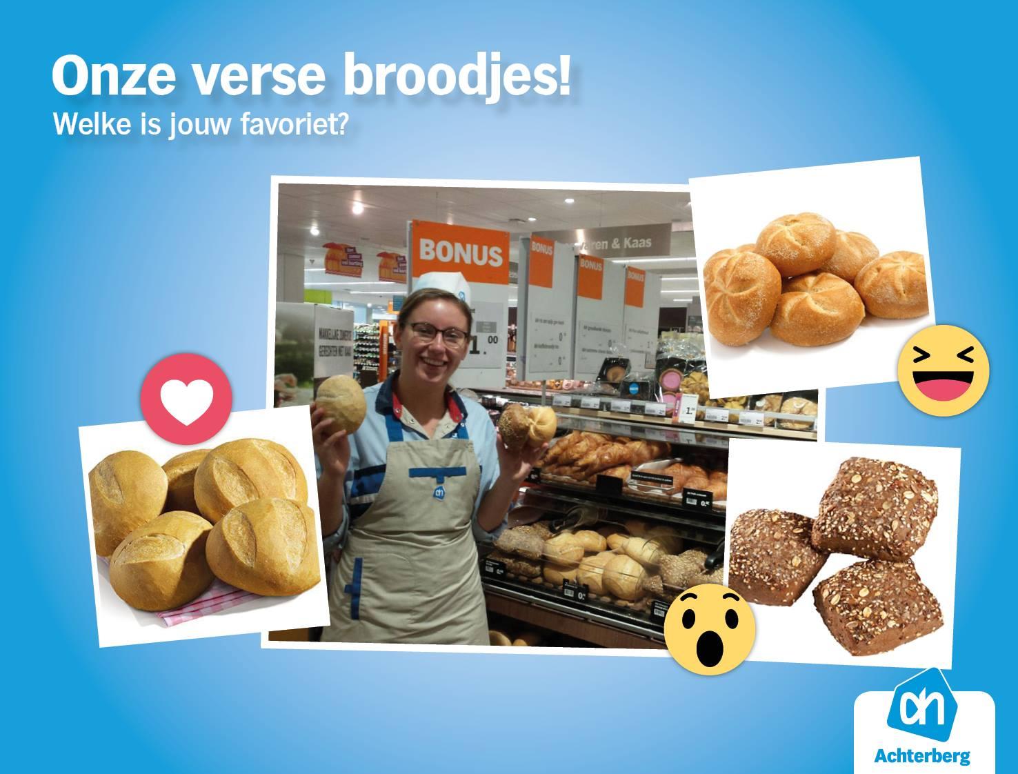 Onze verse broodjes!