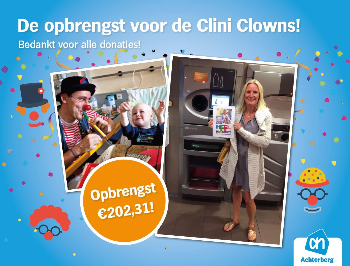 De opbrengst voor de Clini Clowns!
