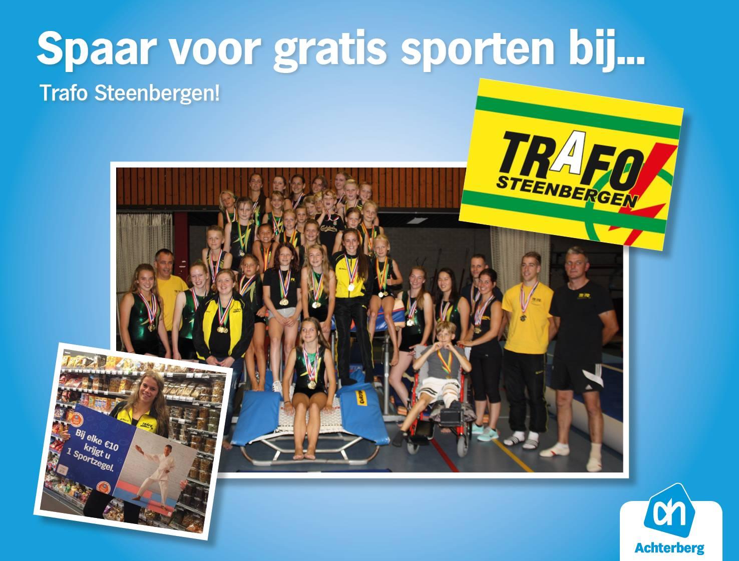 Spaar voor gratis sporten bij… Trafo Steenbergen!