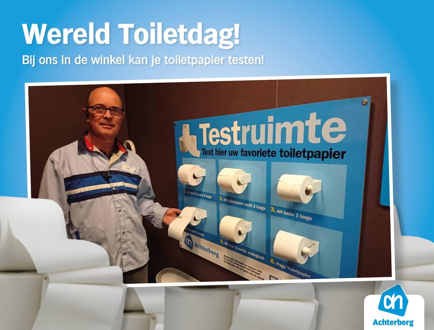 Wereld Toiletdag! Bij ons in de winkel kan je toiletpapier testen!