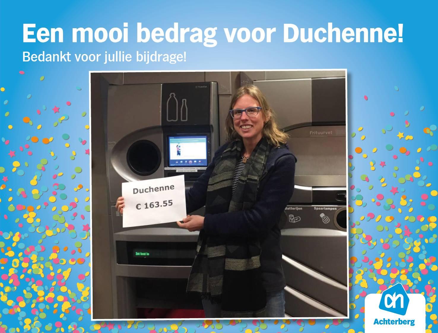 Een prachtig bedrag voor Duchenne!