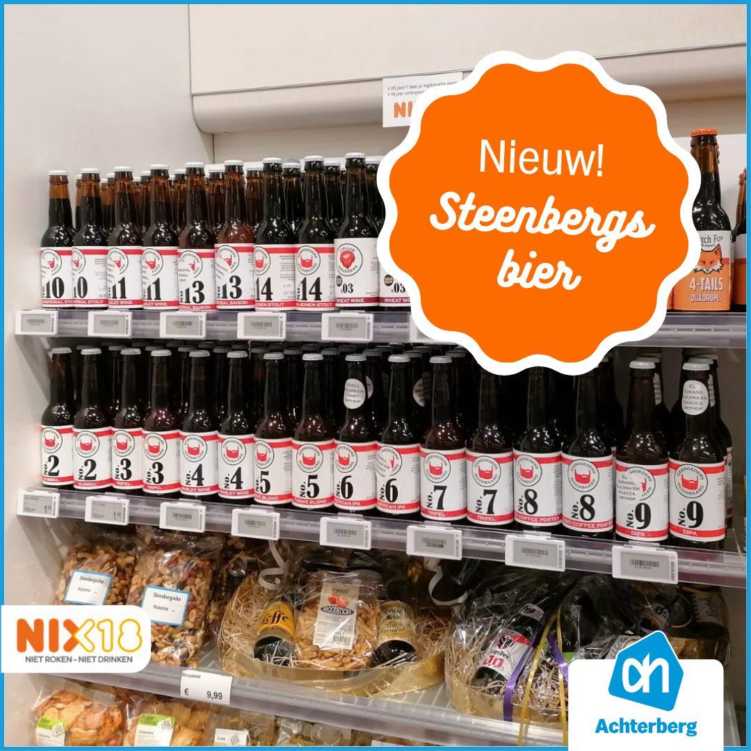 Wij verkopen nu ook het nieuwe Steenbergse Bier