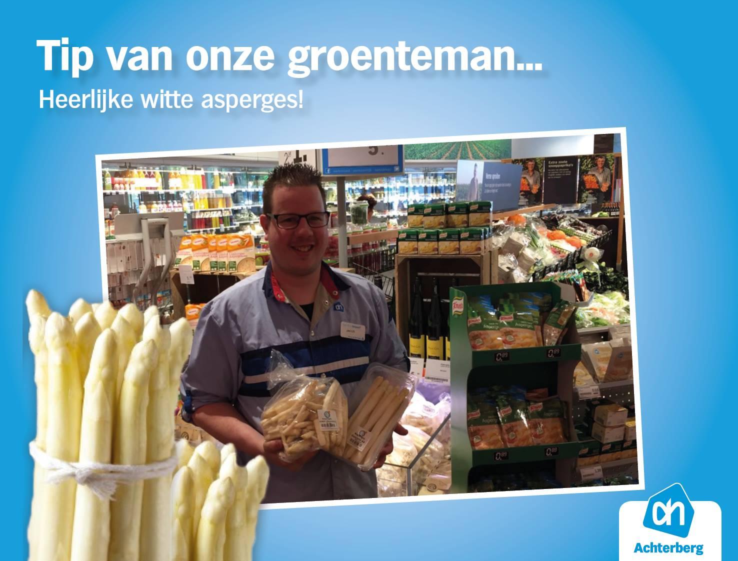 Tip van onze groenteman: heerlijke witte asperges!