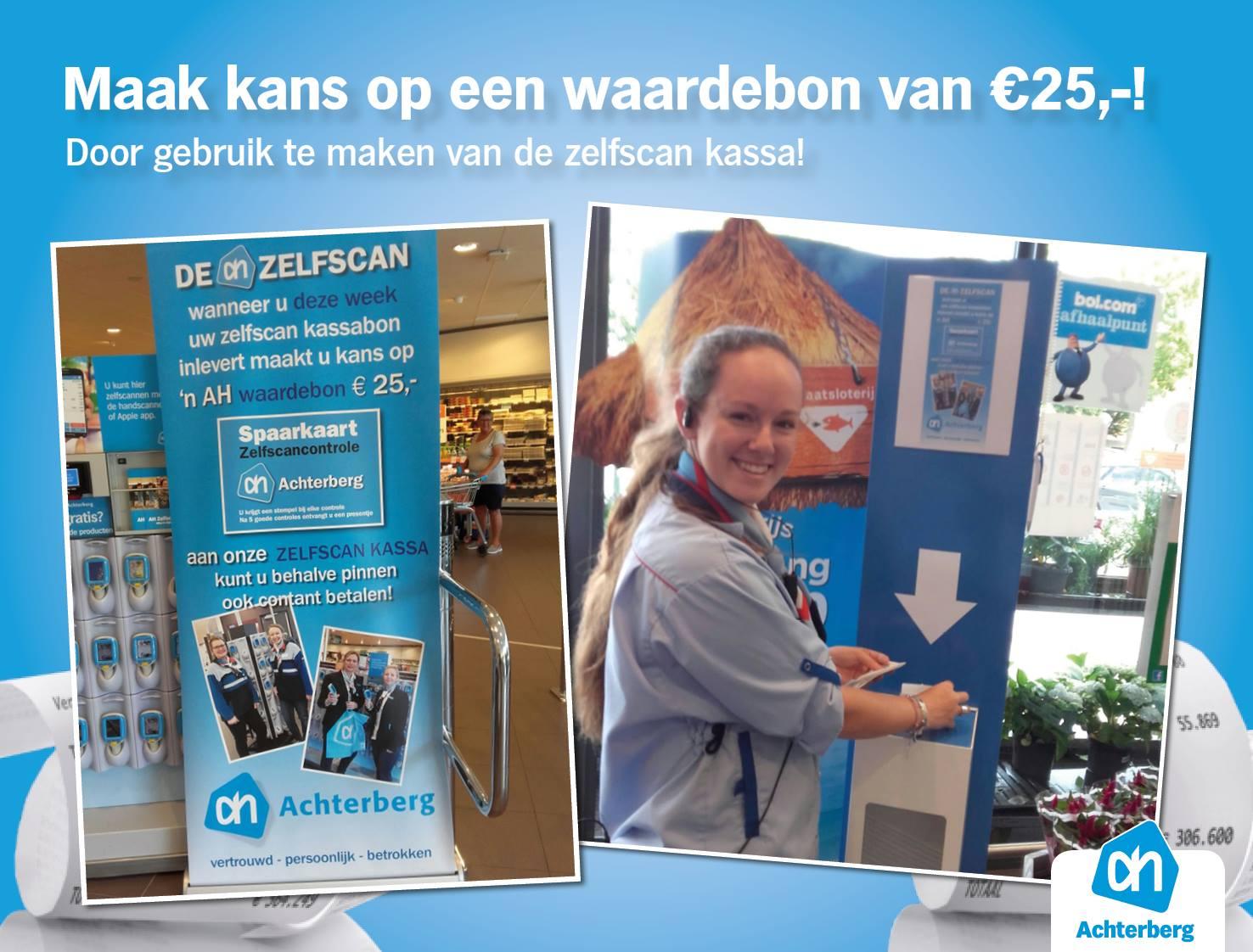 Maak kans op een waardebon van €25,-! Door gebruik te maken van de zelfscan kassa!