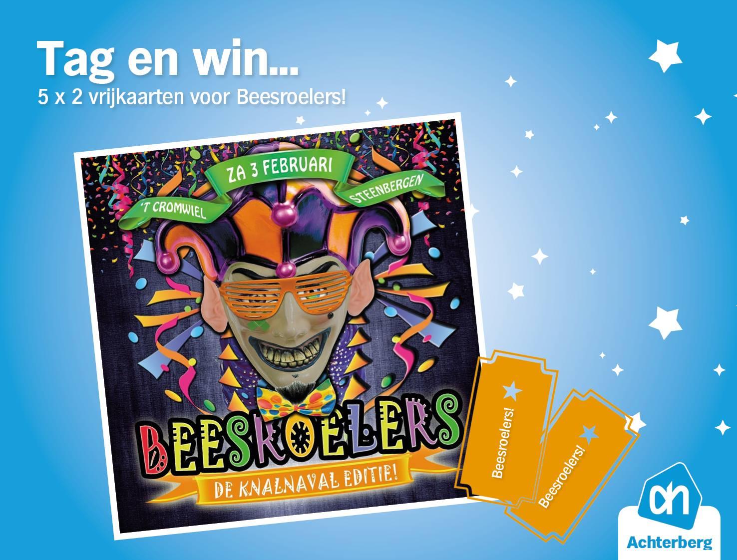 Tag en win…. 5 x 2 vrijkaarten voor Beesroelers!