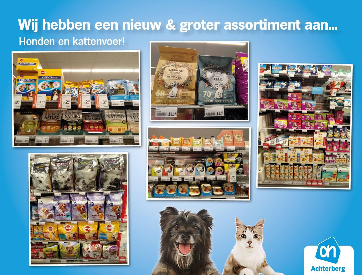 Vanaf vandaag een nieuw en groter assortiment aan honden- en kattenvoer!