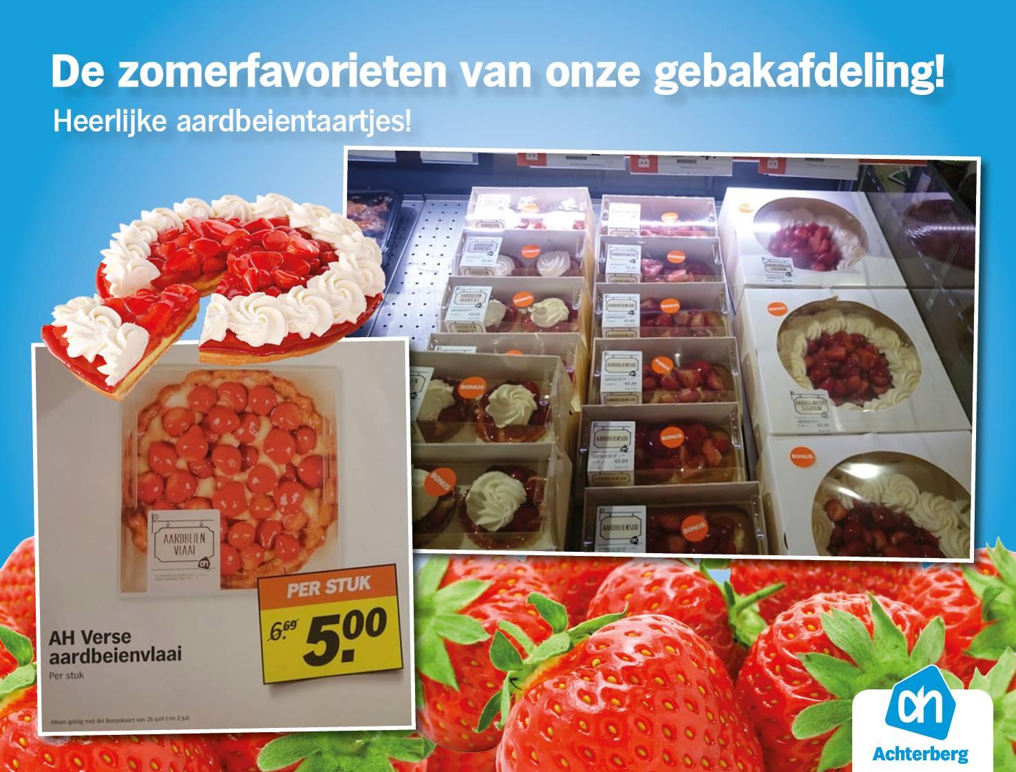 De zomerfavorieten van onze gebakafdeling! Heerlijke aardbeientaartjes!