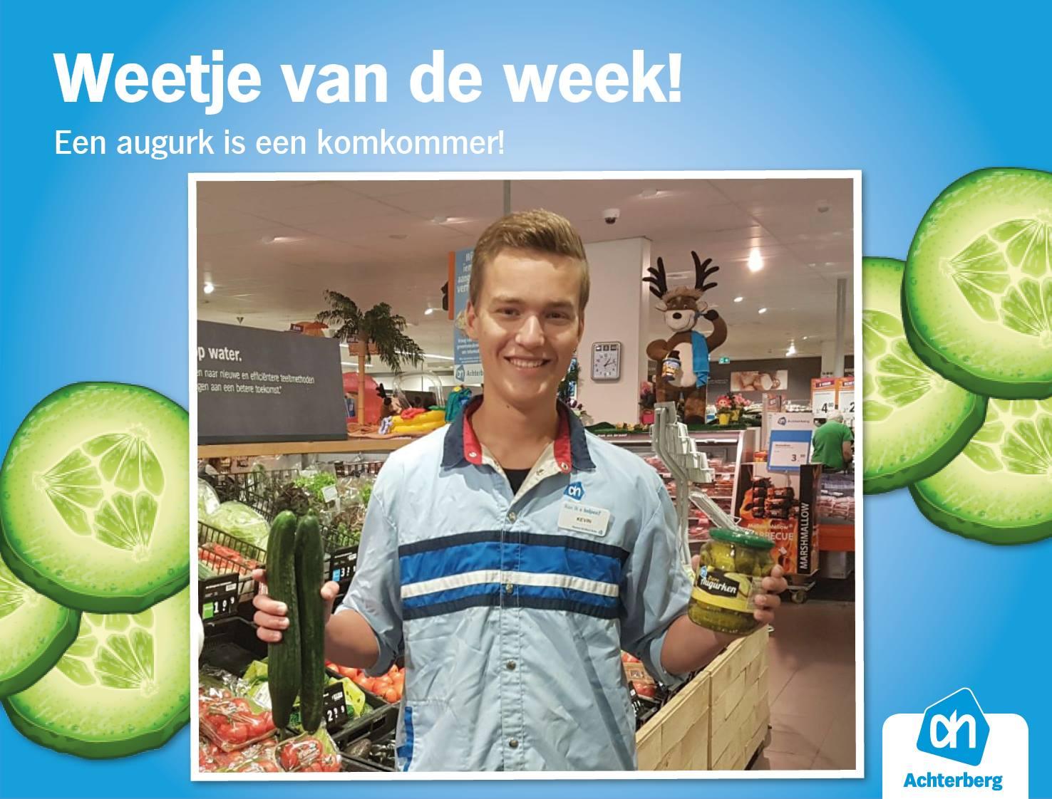 Weetje van de week: een augurk is een komkommer!