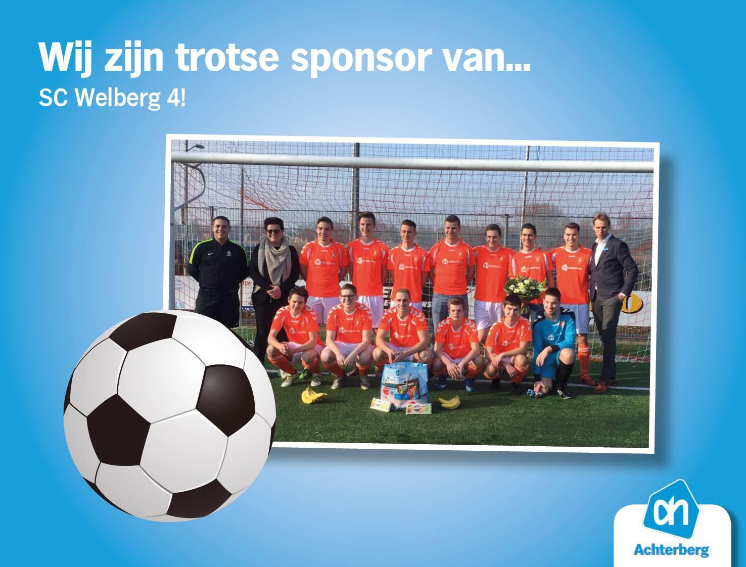 Wij zijn trotse sponsor van SC Welberg 4!