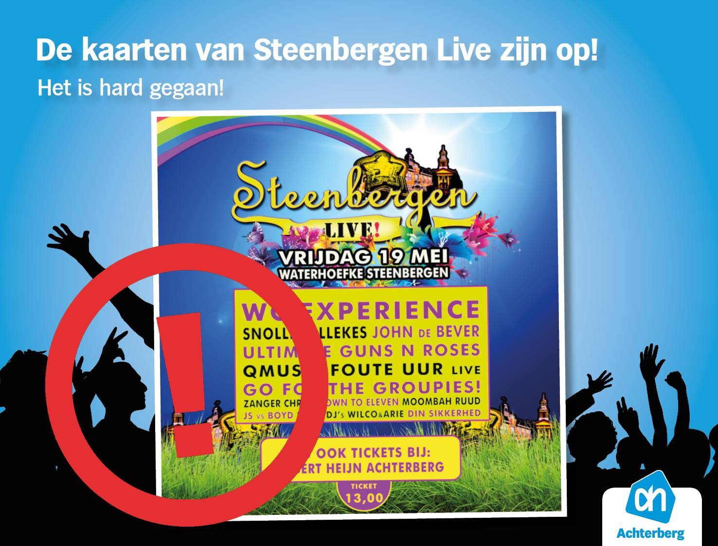 Kaarten Steenbergen Live zijn op