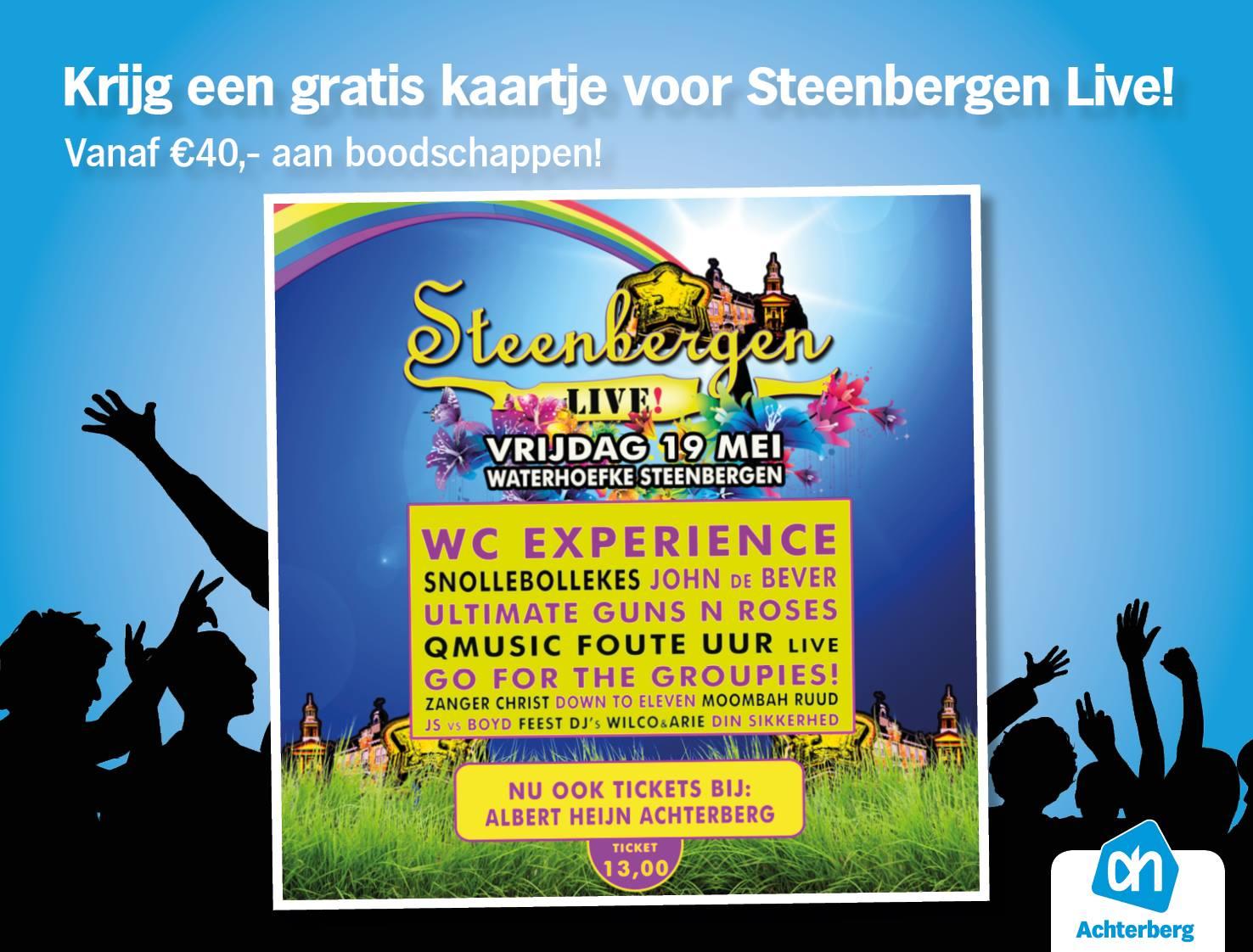 Gratis kaartje voor Steenbergen Live!