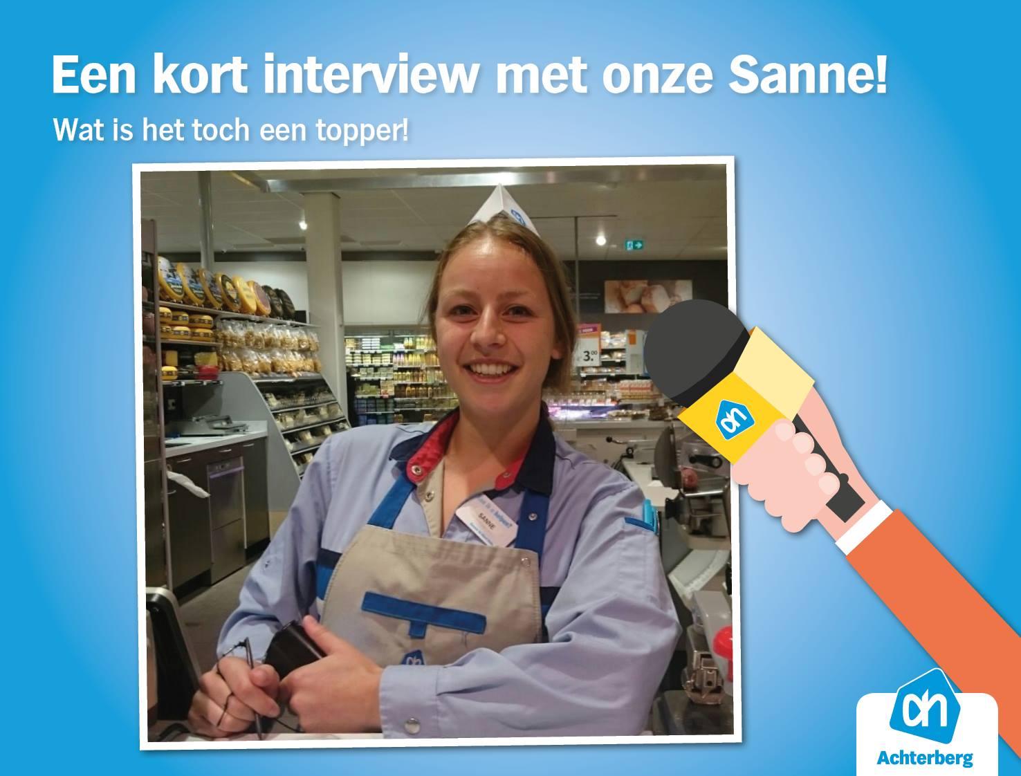 Een kort interview met Sanne, één van onze medewerkers