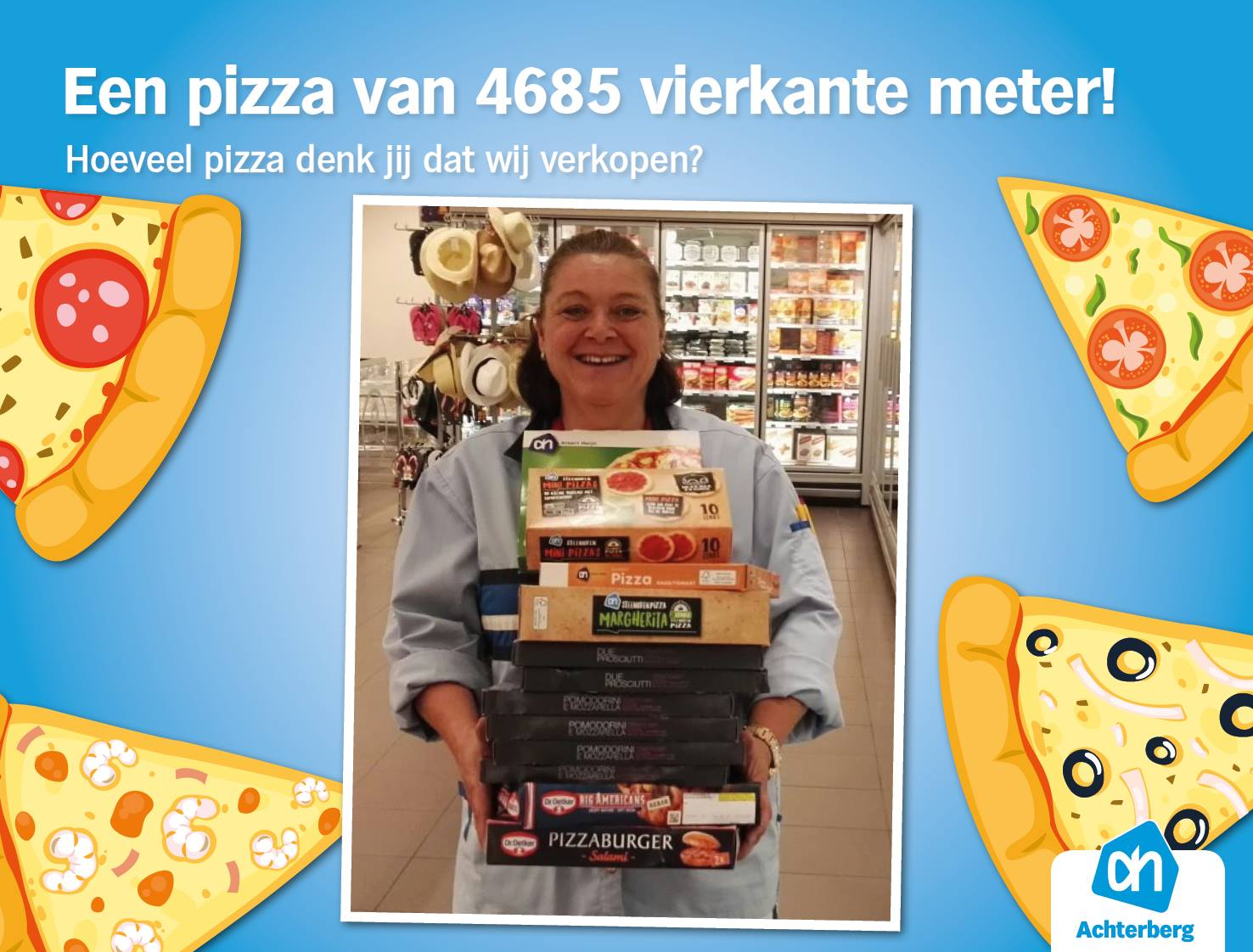 Een pizza van 4685 vierkante meter!