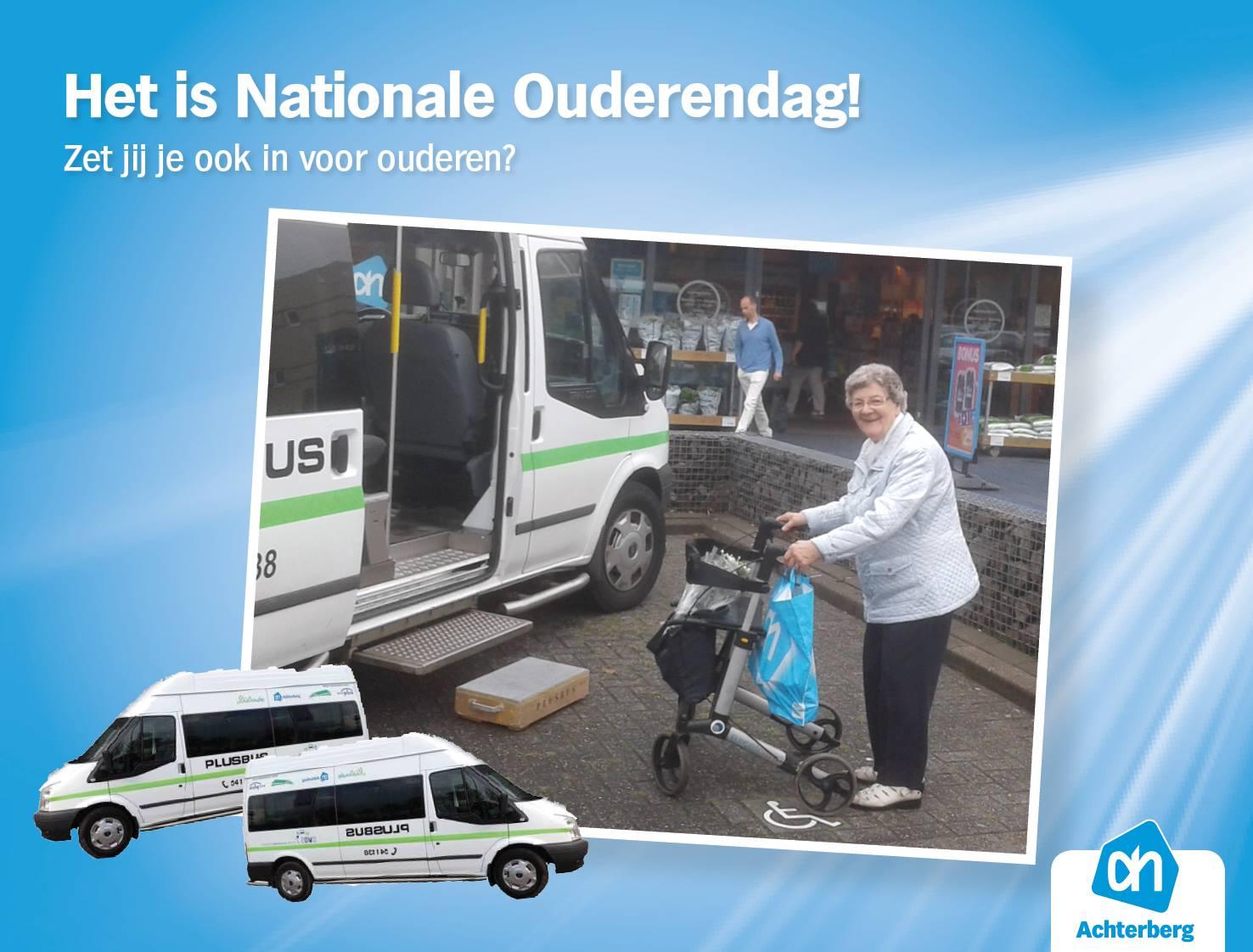 Met de Plusbus kunnen ouderen gratis naar AH Achterberg