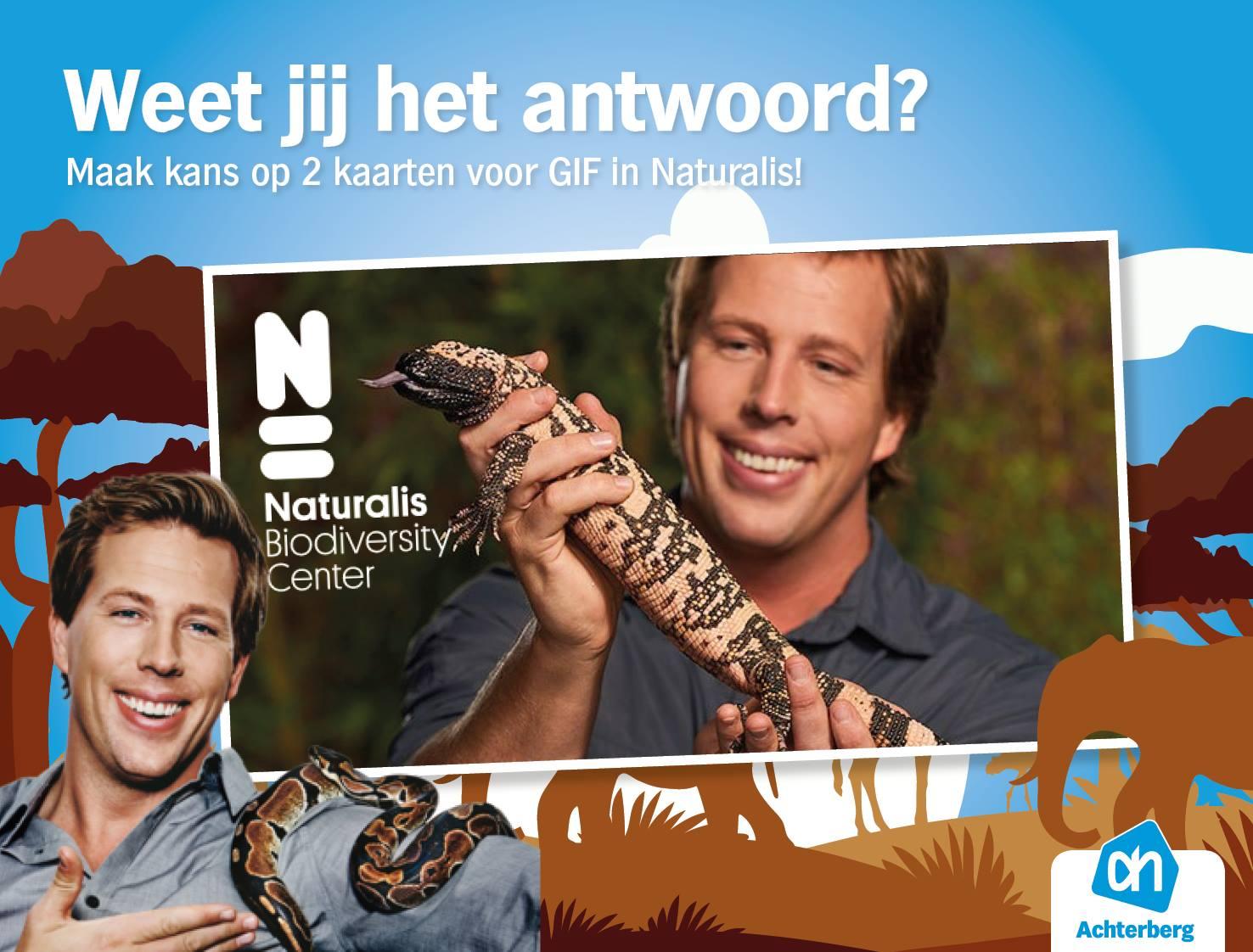 Maak kans op 2 kaarten voor GIF in Naturalis!