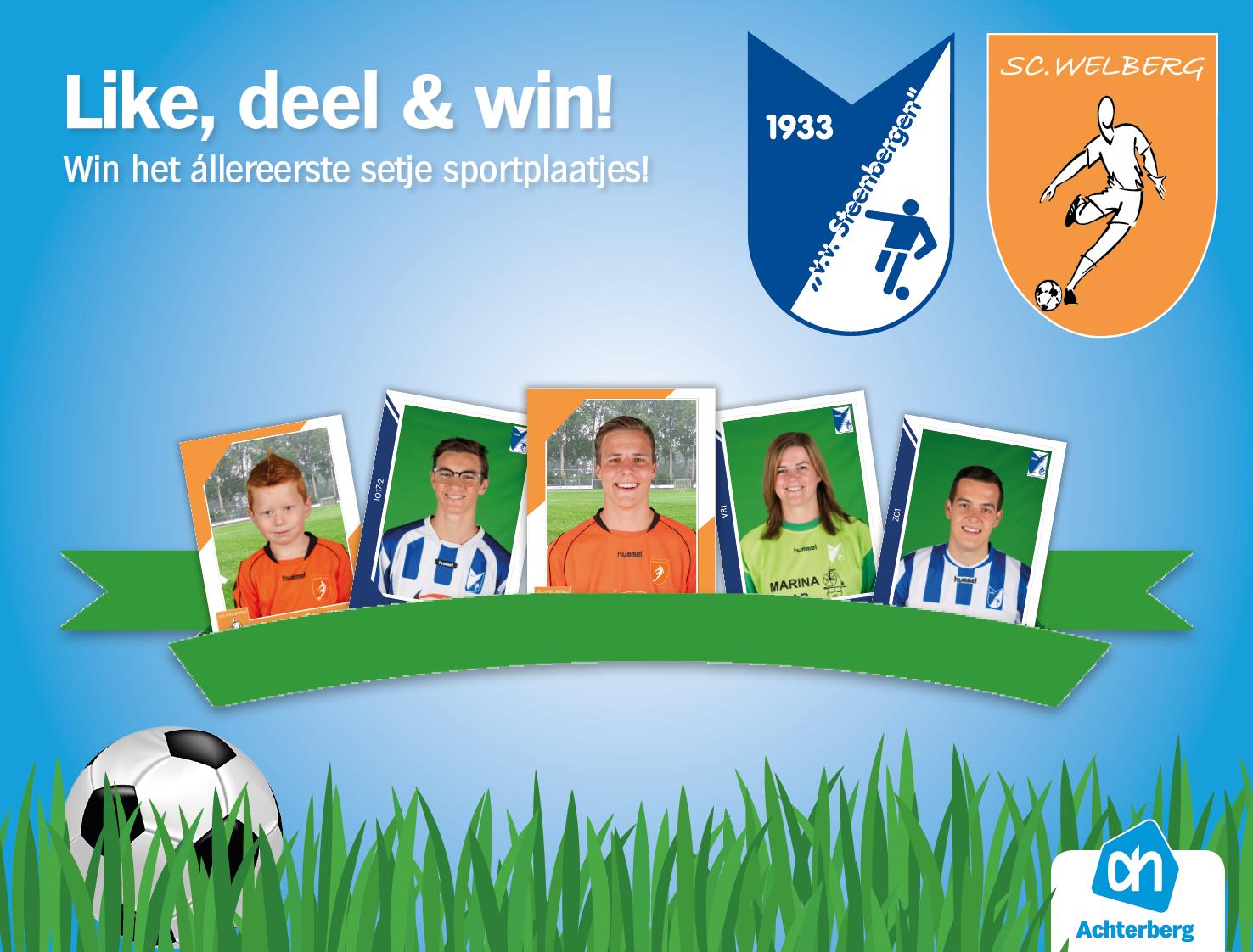 Win op onze Facebookpagina het allereerste setje sportplaatjes!