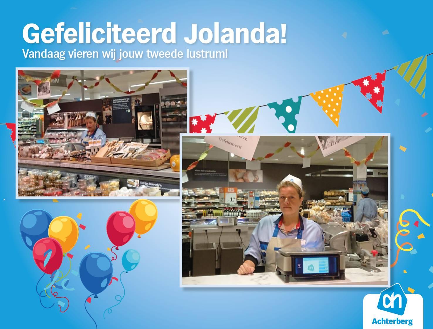 Gefeliciteerd Jolanda met jouw tweede lustrum!