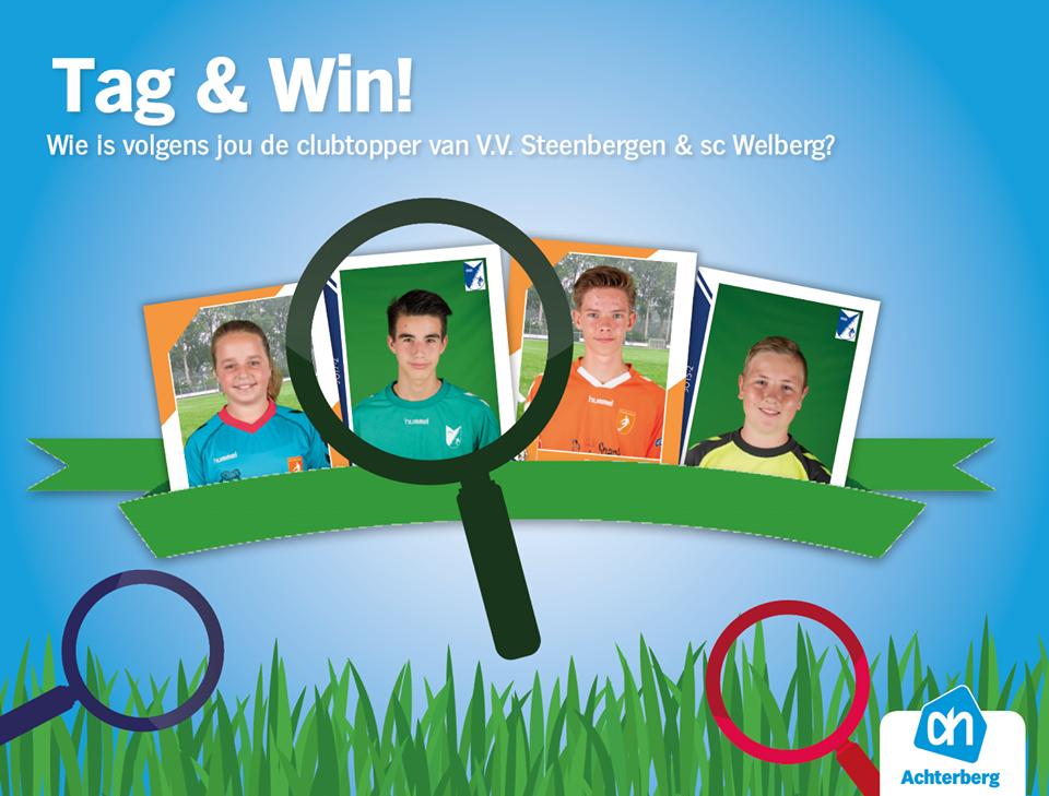 Tag en Win! Wij zijn op zoek naar de clubtoppers!