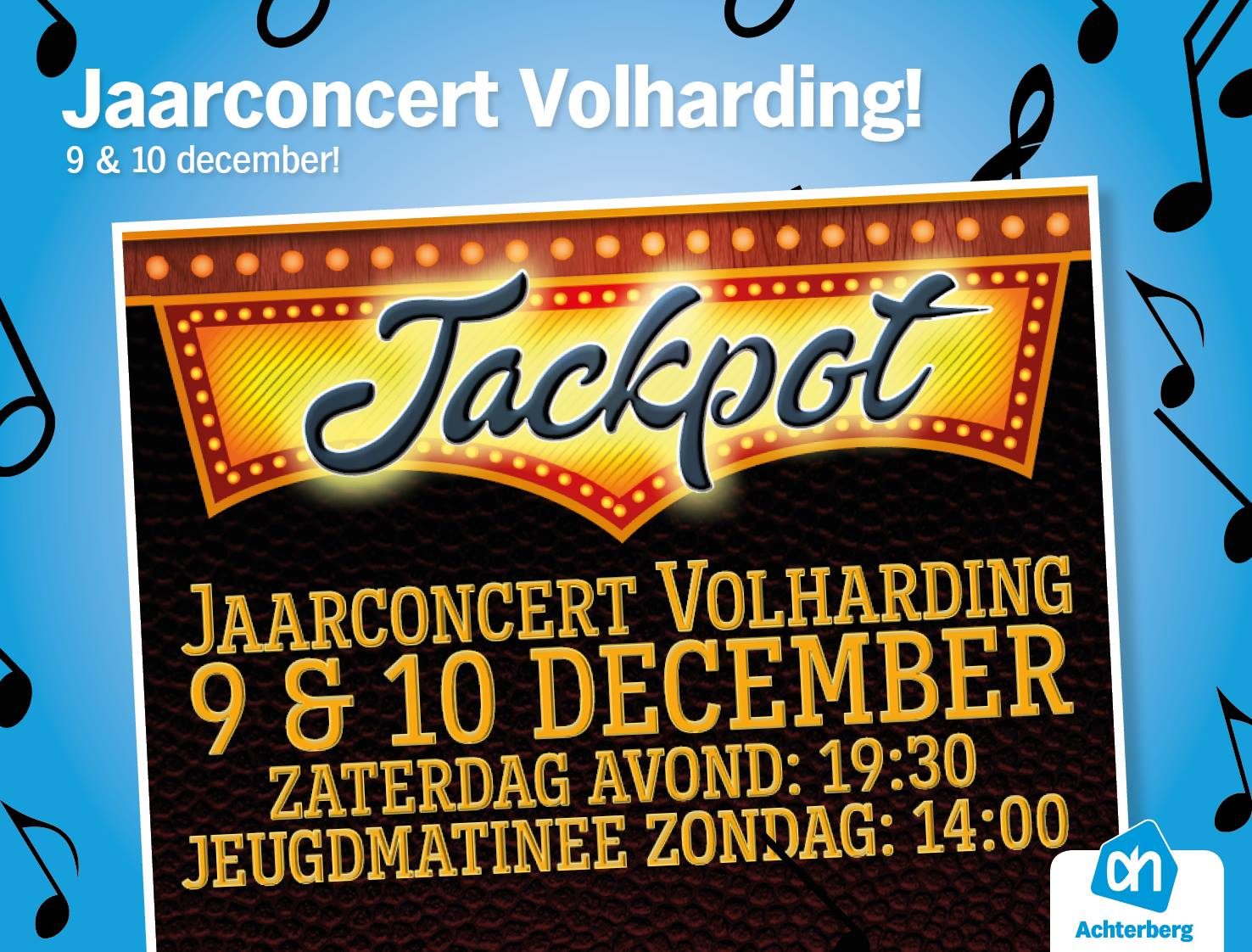 Heb jij al kaartjes gekocht voor het jaarconcert van Volharding?