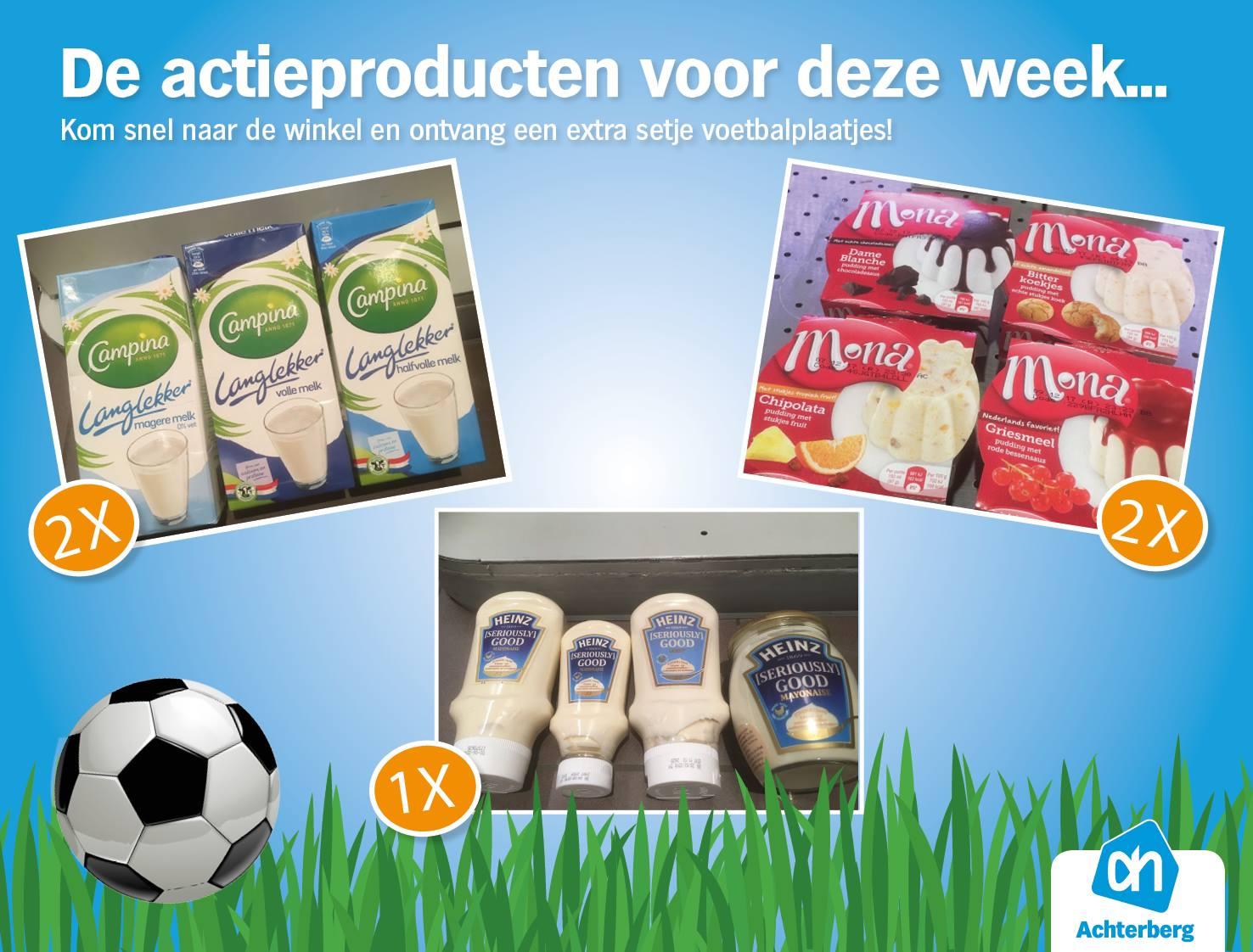 Deze week… extra voetbalplaatjes bij actieproducten!