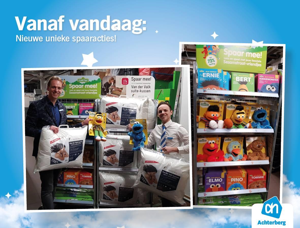 Spaar nu voor Van der Valk kussens en Sesamstraat artikelen!