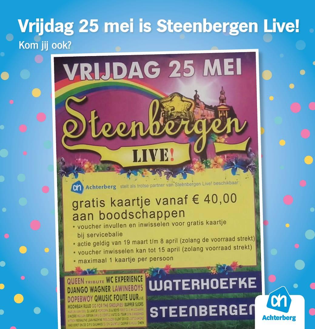 De kaartjesactie Steenbergen Live was een groot succes!