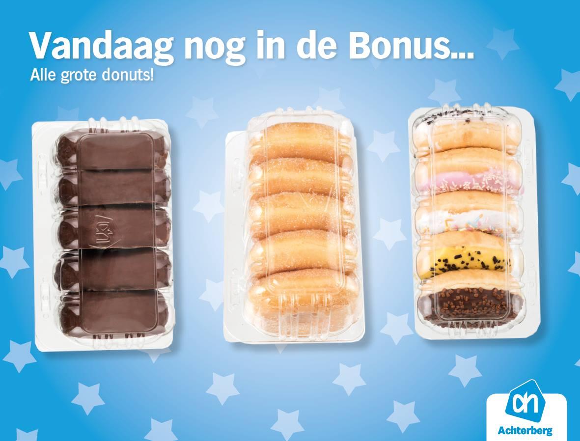 Alleen vandaag nog: AH grote donuts in de bonus!