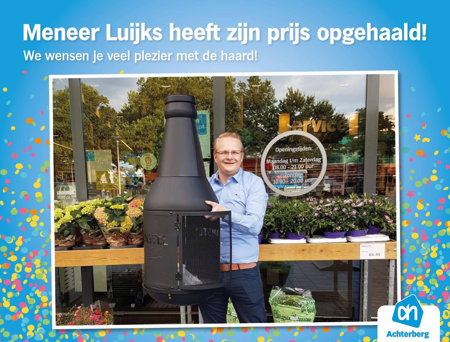 De winnaar heeft zijn Amstel Radler haard opgehaald!
