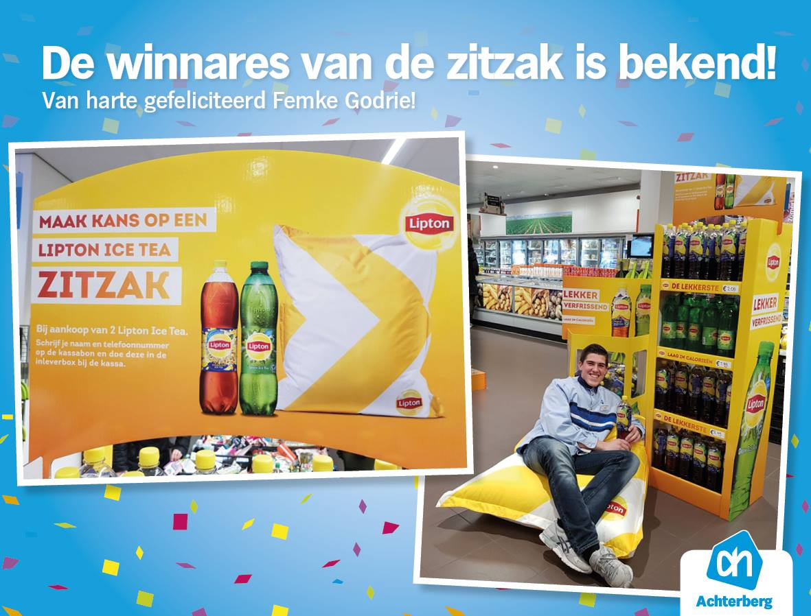 De winnares van de zitzak is bekend!