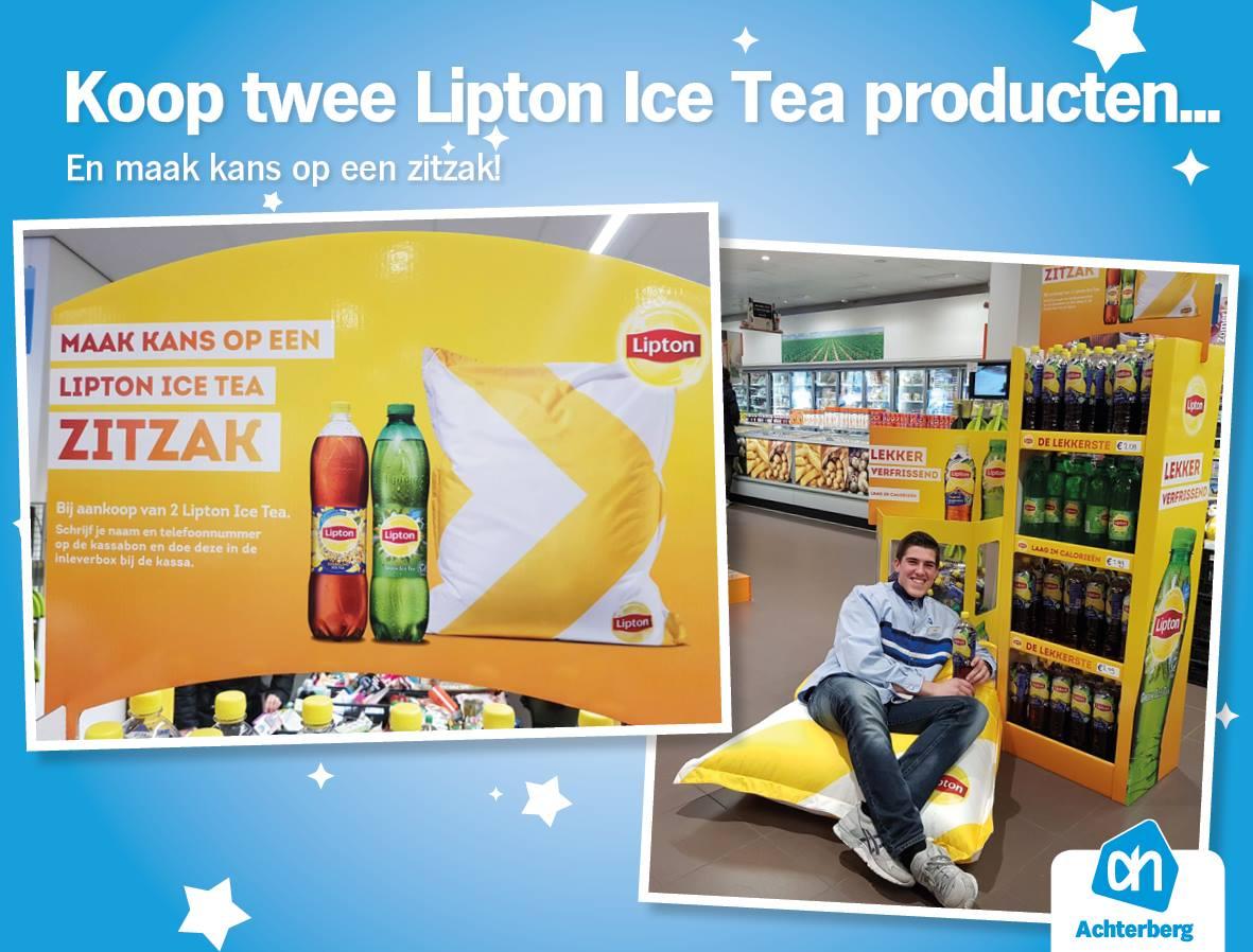 Koop 2 Lipton Ice Tea producten en maak kans op een zitzak