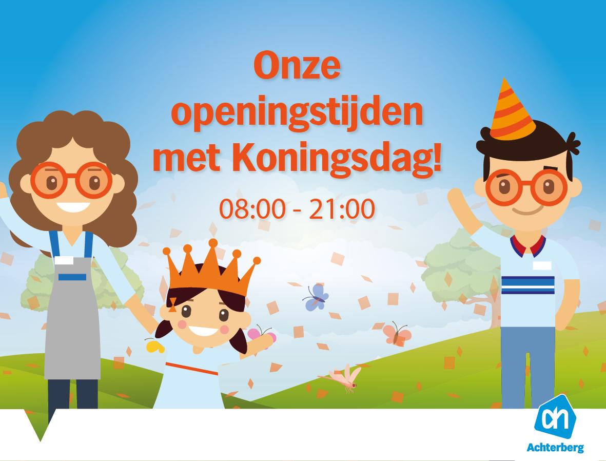 Onze openingstijden met Koningsdag!