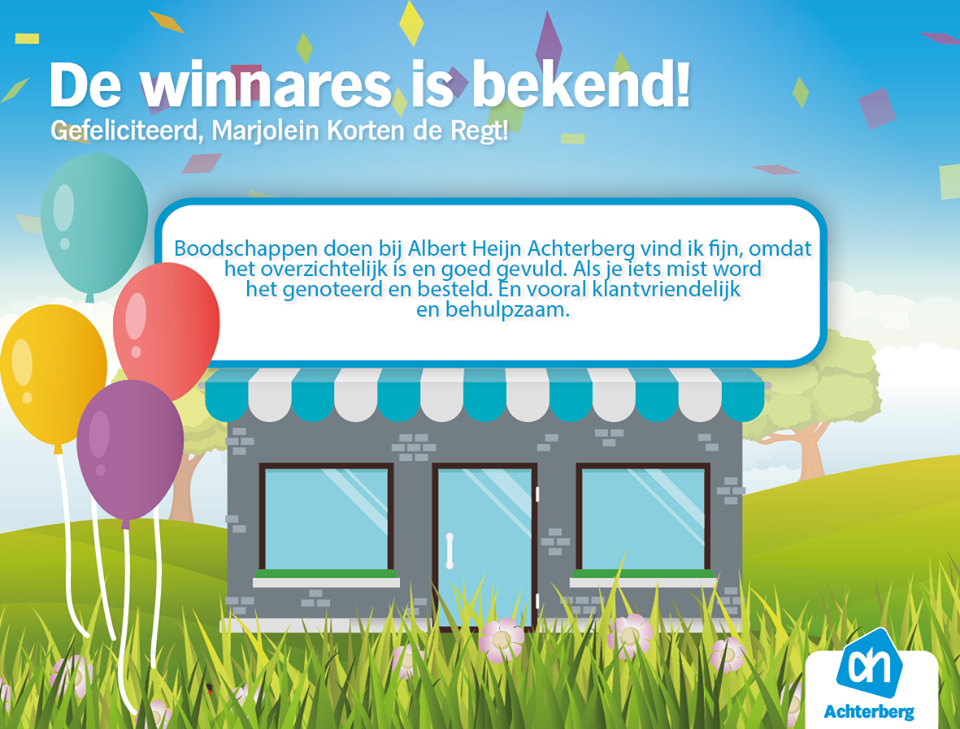 De winnares is bekend!