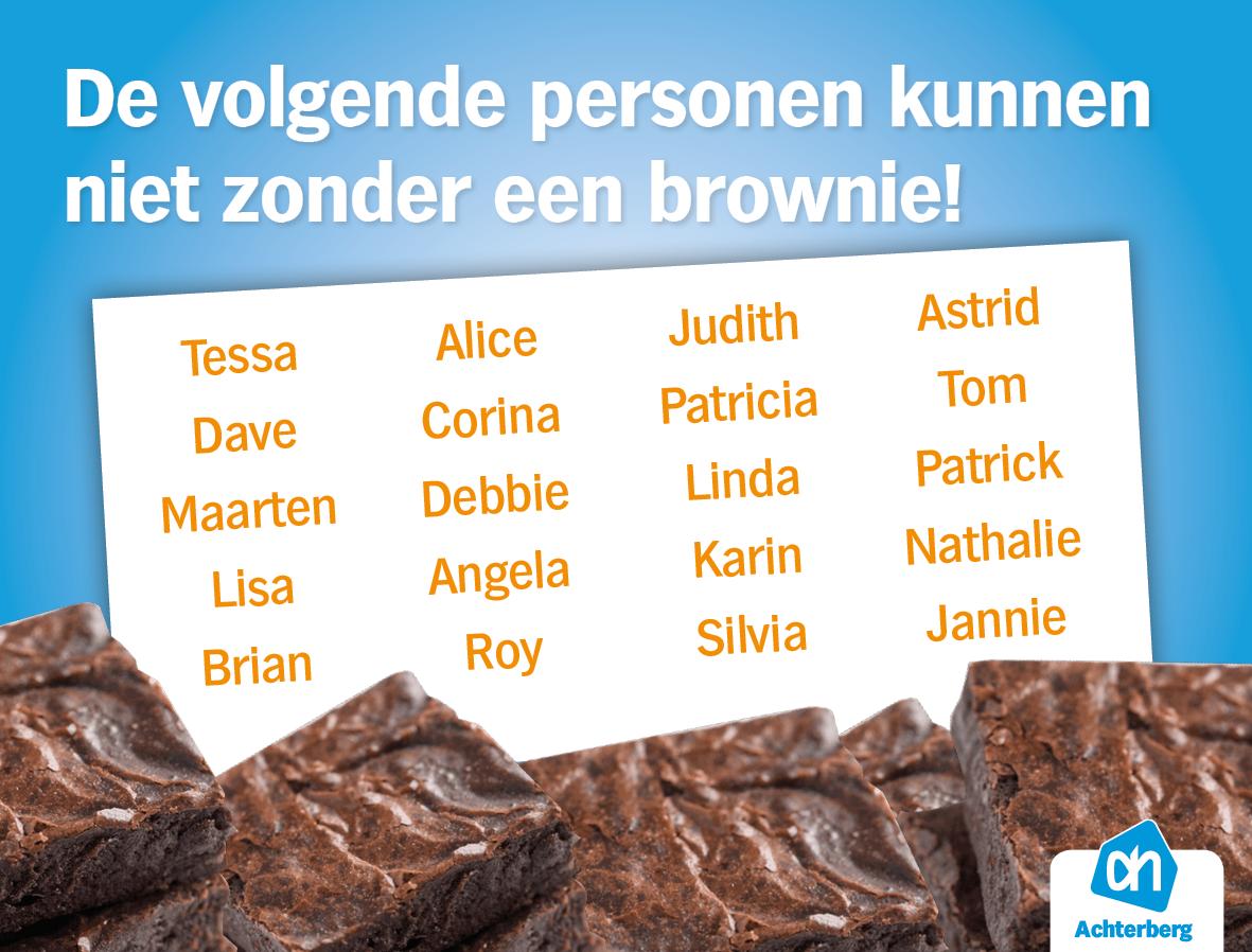 Ken jij iemand die ook helemaal gek is op brownies?