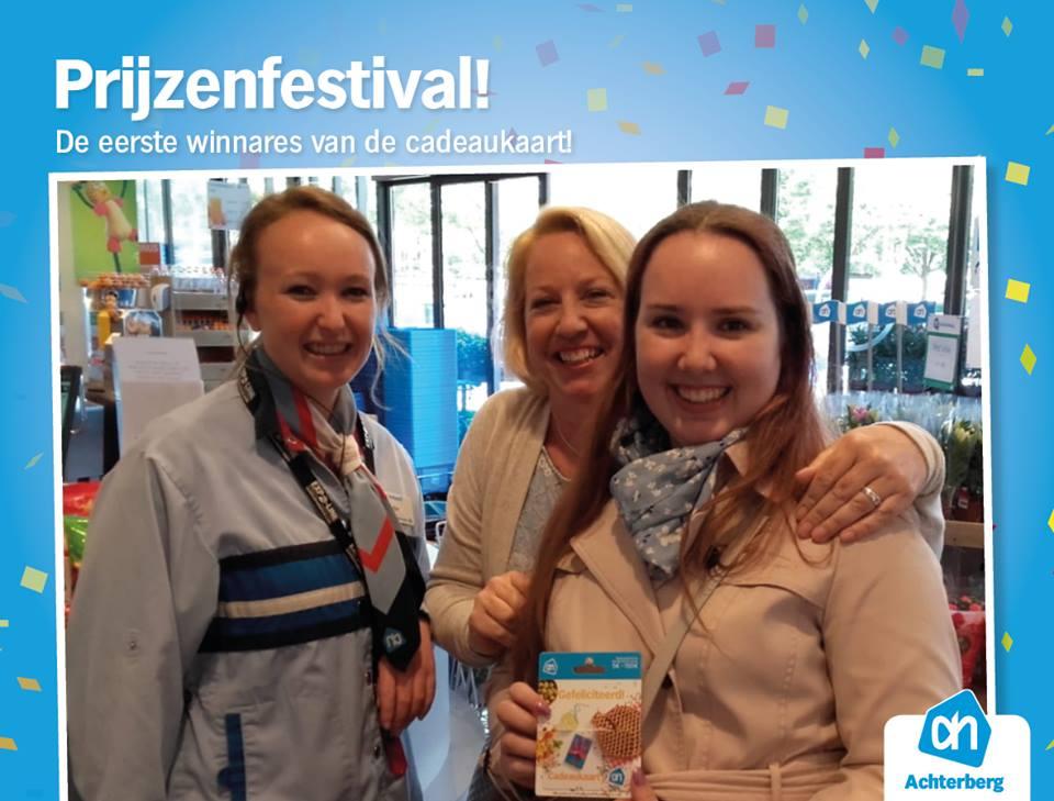 Winnaar prijzenfestival cadeaukaart €25,-!