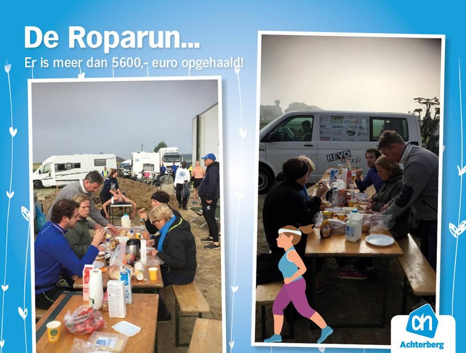 Er is meer dan € 5600,00 opgehaald met de Roparun!
