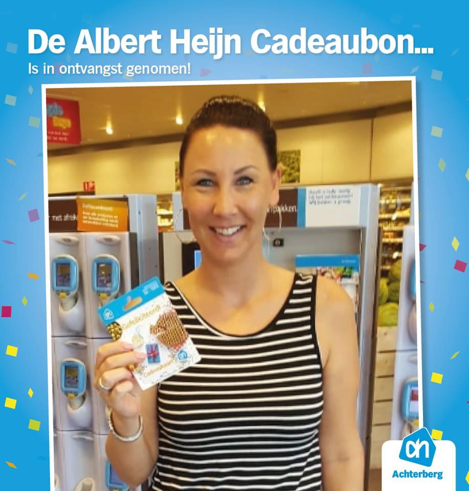 Albert Heijn cadeaubon is in ontvangst genomen!