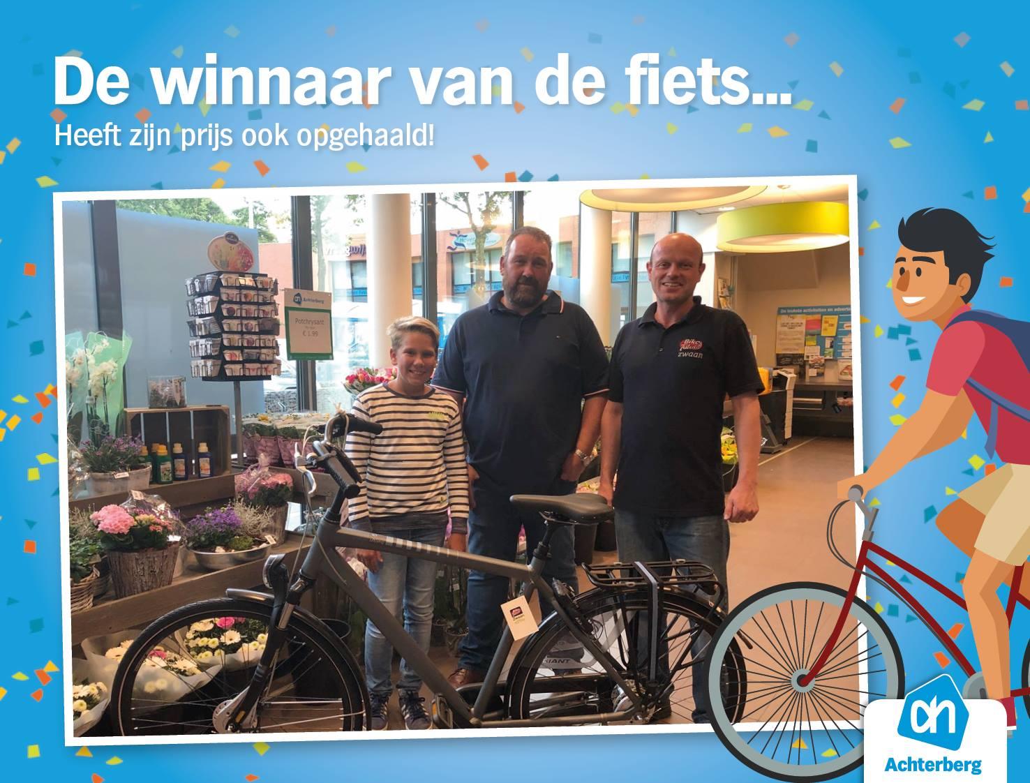 De winnaar van de fiets!