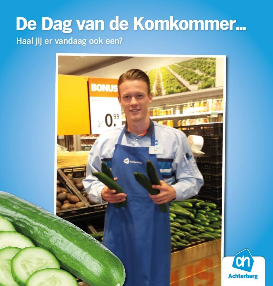 Zelfs de komkommer heeft een eigen dag!
