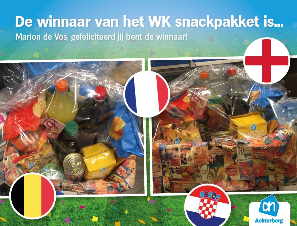De winnaar van het WK snackpakket is…