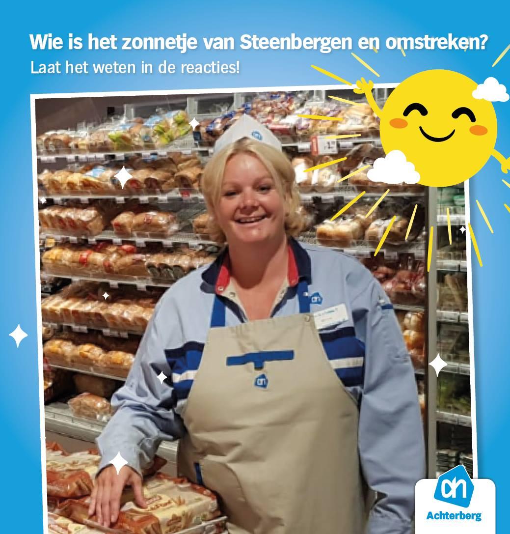 Wie is het zonnetje van Steenbergen en omstreken?